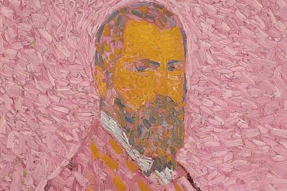 cuno amiet self portrail oil painting