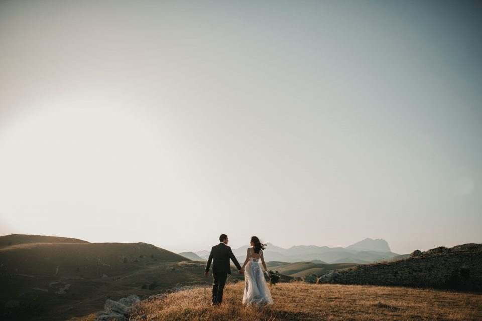 a man and woman getting married